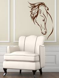 popular horse wall mural buy cheap horse wall mural lots from hot vinyl removable wall decal head of horse wall murals living room decorative animal home sticker