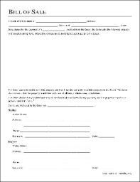 free printable bill of sale form to download