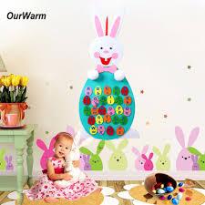 felt easter eggs ourwarm happy easter decoration diy felt easter eggs letter