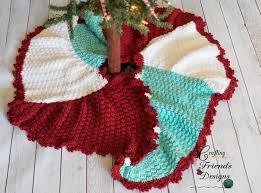 christmas skirt trisquare swirl christmas tree skirt crochet pattern
