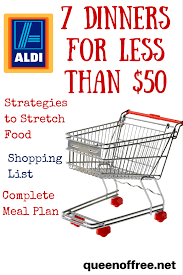 Menu Planner With Grocery List Template Aldi Meal Plan 7 Dinners For Less Than 50 Aldi Meal Plan