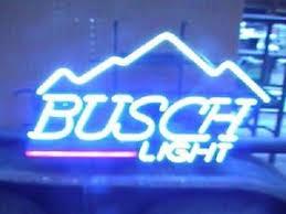 busch light neon sign new busch light mountain beer real glass light neon sign 17 x14 ebay