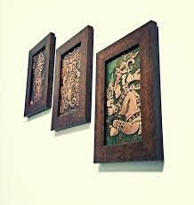 handmade home decor items copper wall art aztec wall art handmade home decor 3 piece