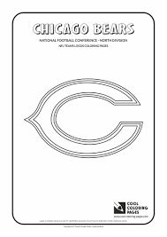 chicago bears coloring pages chicago bears logo coloring page free