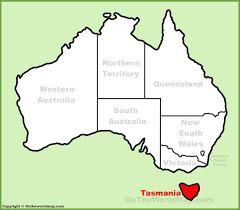 australia world map location tasmania location on the australia map