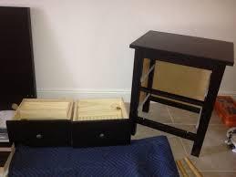 nightstand simple img ikea hemnes nightstand drawer assembly