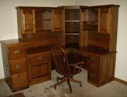 Corner Filing Cabinet Jake U0027s Amish Furniture Corner Desk With File Cabinet