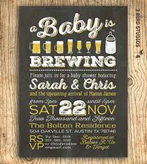 baby shower for couples a baby is brewing coed baby shower invitation baby