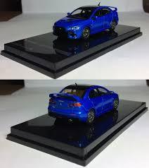 mitsubishi lancer 2017 blue alberto miniaturas 1 64 tarmac works mitsubishi lancer evolution
