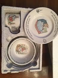 rabbit nursery set by wedgwood wedgwood rabbit beatrix potter 3 nursery set boxed mug
