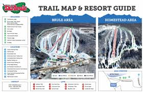 Snowmobile Trail Maps Michigan by Ski Trail Map Ski Brule Michigan Ski Trailsski Brule