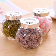 kitchen glass canisters with lids kitchen glass jar seal small canister nuts storage tank glass jar