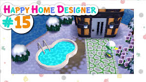 animal crossing happy home designer 15 scoot u0027s pool youtube