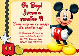 Birth Day Invitation Card Mickey Mouse Birthday Invitation Plumegiant Com