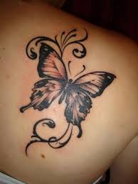 simple butterfly tattoo on shoulder real photo pictures images