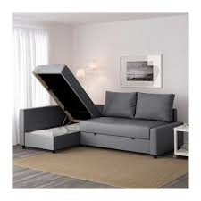Ikea Sofa Chaise Lounge Friheten Sleeper Sectional 3 Seat W Storage Skiftebo Gray