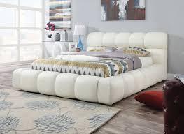 Eastern King Bed Acme Acacia Eastern King Bed Ivory Pu 25047ek Hipbeds Com