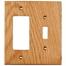 gfci outlet with light switch oak wood wall plates 2 gang combo light switch gfci outlet cover