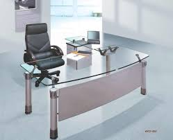 Glass top Office Desk Modern  Large Home Office Furniture Check