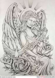 28 best angel and clouds tattoo designs images on pinterest