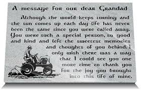 memorial gifts for loss of memorial gifts for loss of grandfather memorial plaques