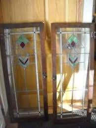 Glass Cabinet Door Pair Of Antique Leaded Stained Glass Cabinet Doors Arts And Craft