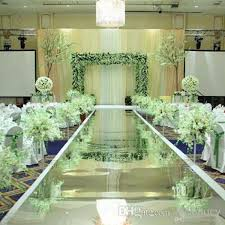 1 2 m wide luxury wedding centerpieces decor mirror carpet aisle