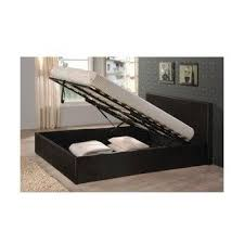 black 5ft king size gas lift up faux leather ottoman storage bed