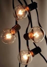 white string lights white cord white string lights outdoor patio light set clear globe bulbs ft