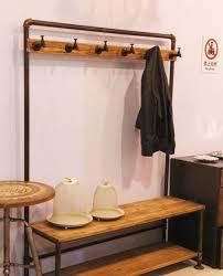 decoration elegant brown wooden coat storage with brown wooden