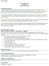 civil service cv example u2013 cover letters and cv examples