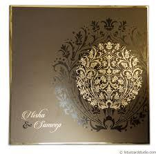 Invitation Card Metallic Crown Wedding Invitation Card