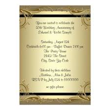 gold 50th wedding anniversary card zazzle - 50th Wedding Invitations