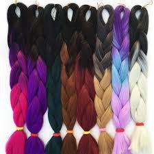 ombre kanekalon braiding hair online shop falemei 100g pack 24inch kanekalon braiding hair ombre