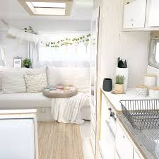 Camper Interior Ideas Vintage Viscount Caravan Renovation Gypsy Boho Interior The Small