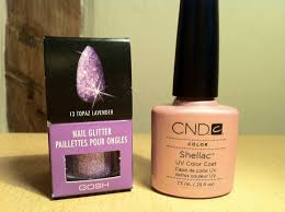 brush up and polish up cnd shellac nail art glitter fade