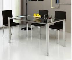 stainless steel table and chairs steel glass dining table and chair combination stainless steel