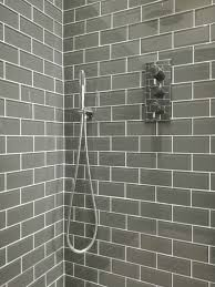 Gray Bathroom Tile by Gun Metal Grey Glass Metro Tiles Alec Buchan