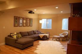 Game Room Basement Ideas - decorations white basement decoratiom idea with small kitchen