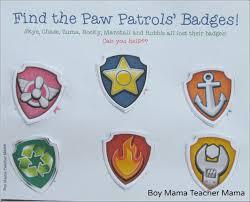 boy mama free paw patrol find the badge printable game boy mama