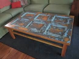 Large Coffee Table by Vintage Door Coffee Table Two Crows Designs