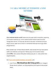tutorial membuat website gratis untuk pemula 3 cara membuat website