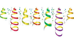party streamers background with party streamers and confetti vector illustration