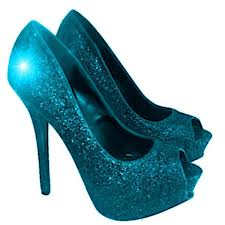 Wedding Shoes Peep Toe Sparkly Turquoise Blue Glitter Peep Toe High Low Heels Wedding