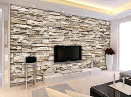 Wallpaper For Home Interiors by 3d Effect Brick Stone Wallpaper For Interior Designs Creative