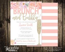 bridal brunch shower invitations floral brunch and bubbly bridal shower invitation