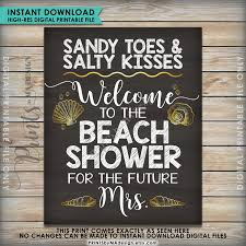 Bridal Shower Signs Bridal Shower Sign Beach Bridal Shower Welcome Wedding Shower