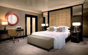 small bedroom colors and designs with unique circle mirror design