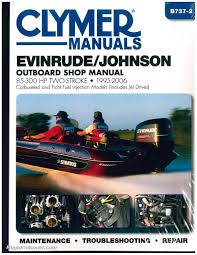 evinrude johnson 85 300 hp 1995 2006 clymer outboard engine boat