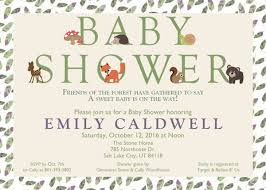 woodland baby shower invitations gender neutral woodland animals baby shower party supplies